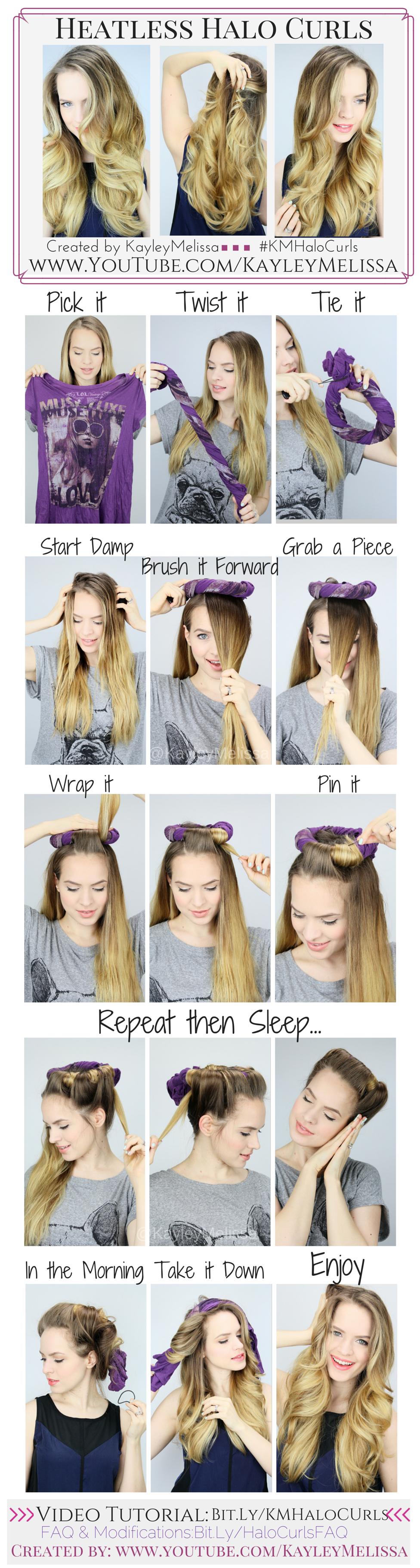 Как в домашних условиях сделать волнистые волосы без бигуди и плойки
