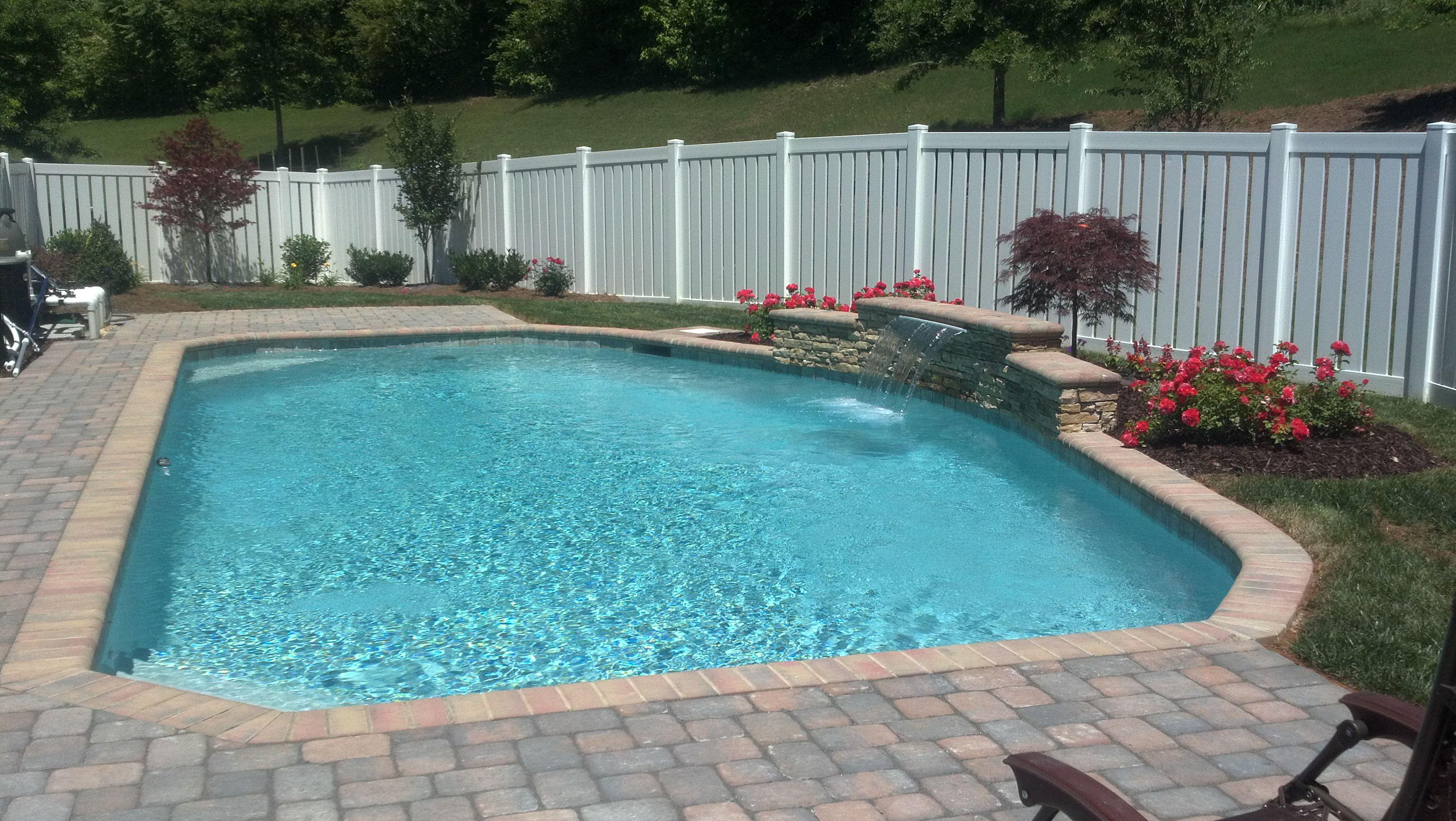 Swimming pool fence options cpc pools custom in ground swimming pools designs - Swimming pool fencing options consider ...