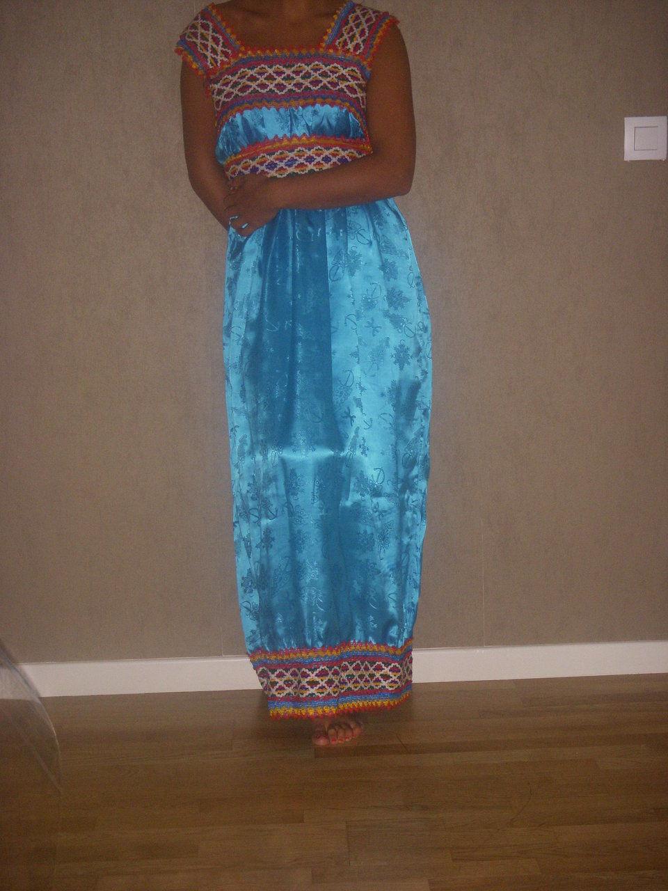 Robe kabyle turquoise