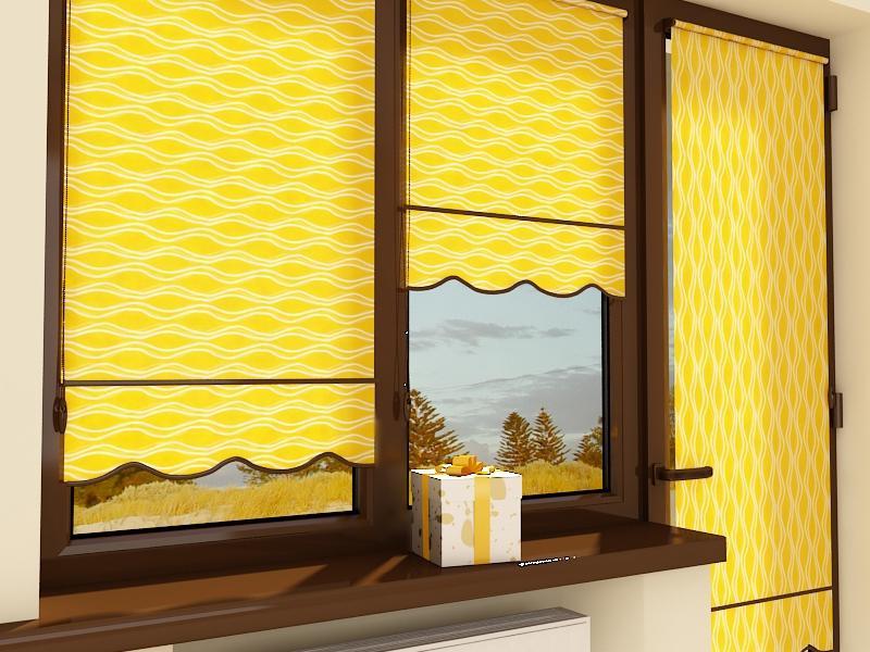 Рулонные шторы на пластиковые окна, фото в интерьере.