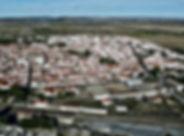 Vista aérea da vila de Cuba