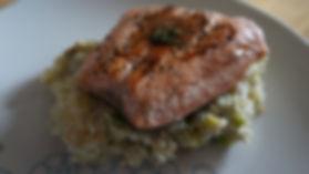 Salmon on Horseradish Leek Mash.JPG
