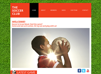 Soccer Club Website Template | WIX