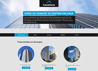 Imobiliário Template - Um template de negócios de qualidade para seu negócio imobiliário. Personalize para adequar à sua marca com palavras, cores e muito mais.