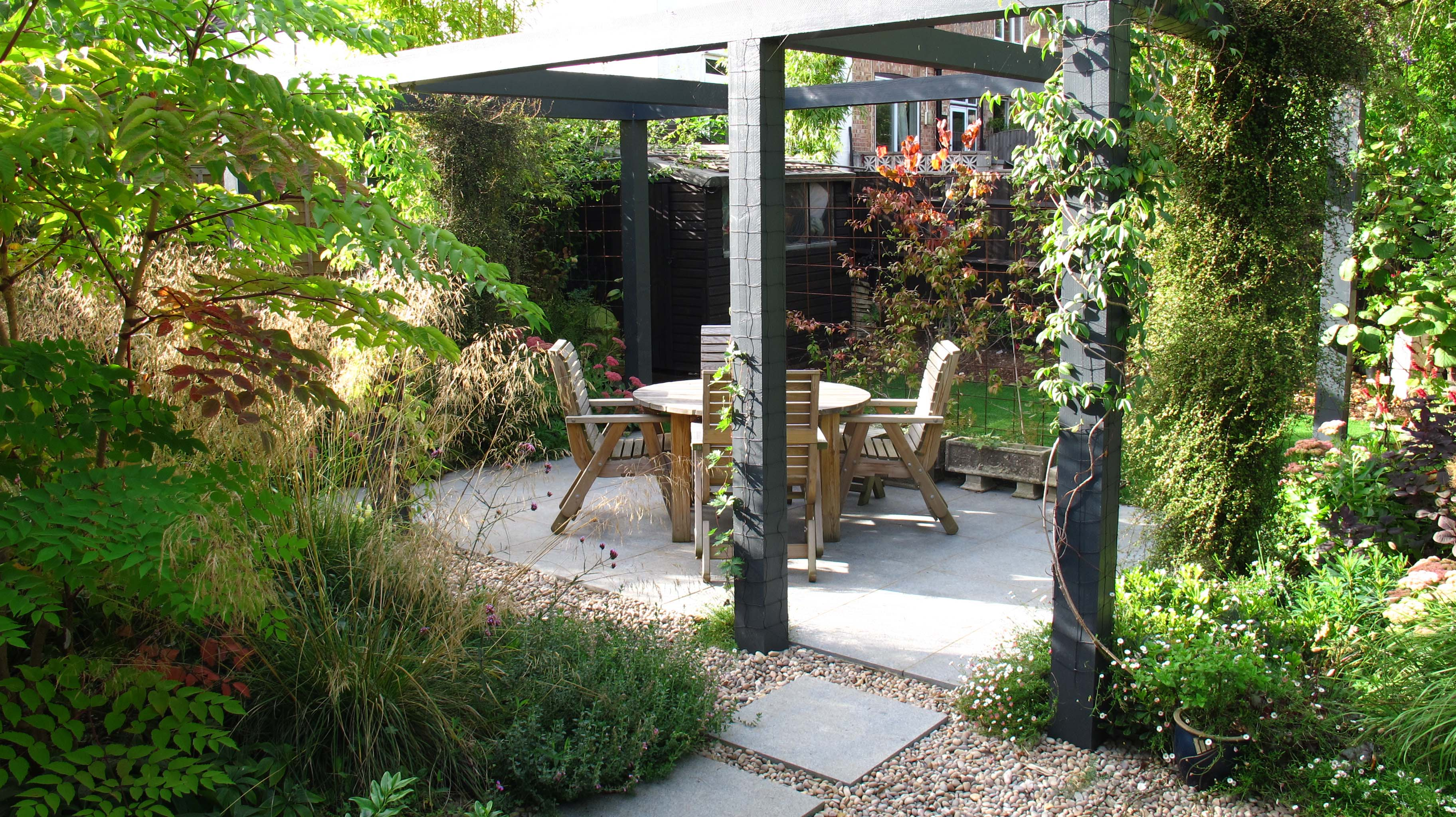 Our pergola garden has been featured in an article on for Pergola images houzz