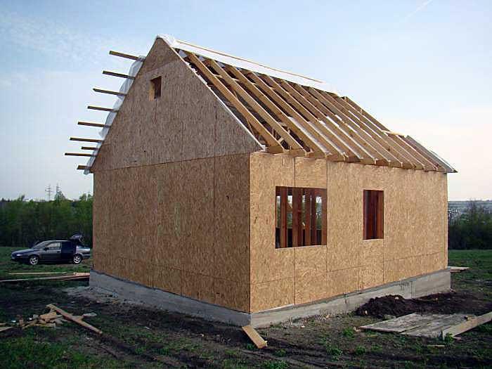 Деревянные дома Обшивка плитами ОСБ каркасного дома