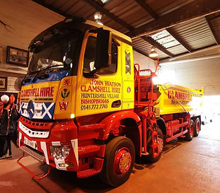 Clamshell Hire Lorry