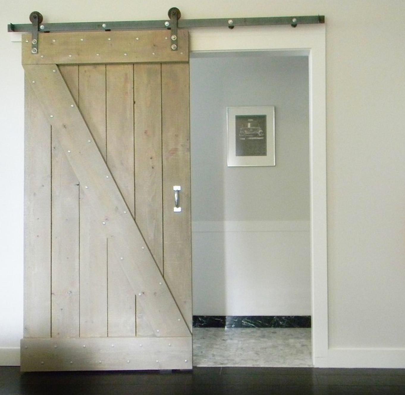Как из простой двери сделать раздвижную дверь