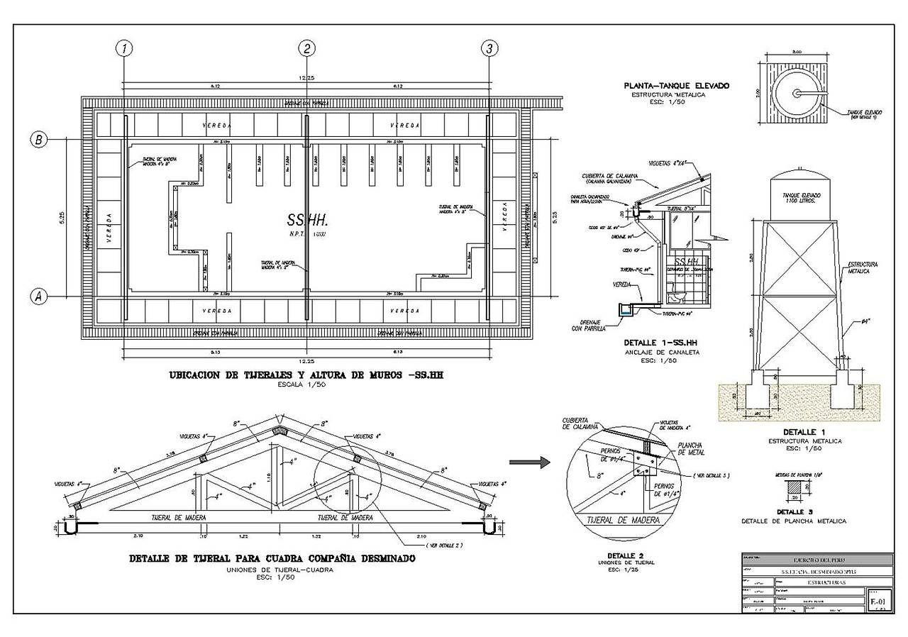 Estudio aa arq alexis javier alva sosa for Planos de estructuras