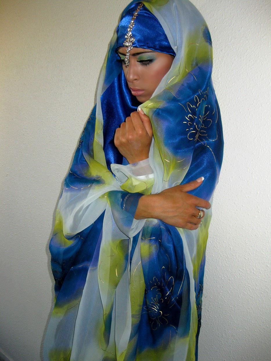 jilbab mariage bleu 074jpg - Jilbeb Mariage