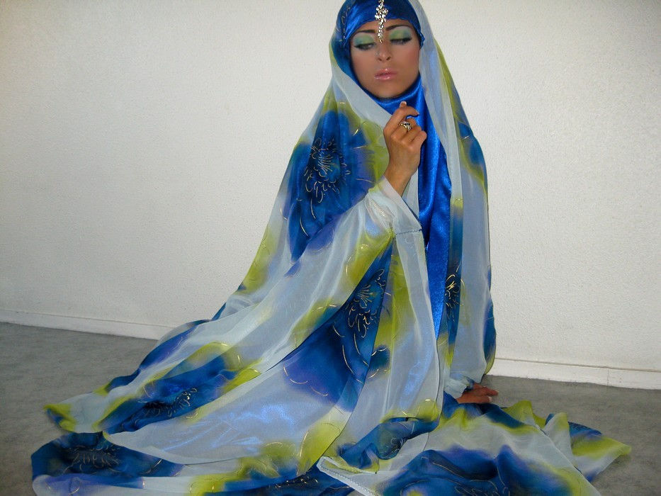 jilbab mariage bleu 114jpg - Jilbeb Mariage
