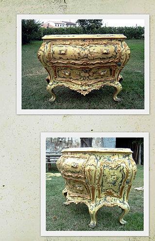Com in lacca e foglia d 39 oro in stile veneziano tratto da for Arredamenti bovolone