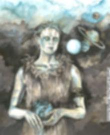 Fanitsa Petrou Art, Fantasy Art, Android, Robot illustration, sci-fi paintings, sci-fi genre, buy Art online, Art by Fanitsa Petrou, www.fanitsa-petrou.com