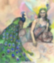 Fanitsa Petrou Art, Fantasy Art, goddess tradition, Lady of the Peacocks