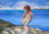 Fanitsa Petrou Art, Fantasy Art, Mermaid, The Sea, Early morning Light, Angel painting, original art, buy Art online, Art by fanitsa petrou, www.fanitsa-petrou.com