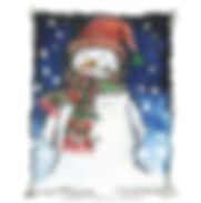 Fanitsa Petrou Art, Xmas cards, Xmas greeting cards, snoman, Santa, Santa claus