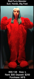 Red Furry Monster