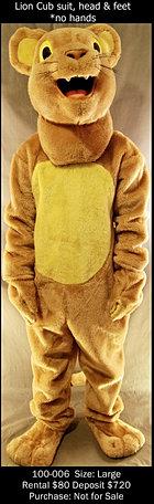 Lion Cub Mascot