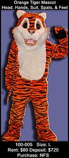 Orange Tiger Mascot