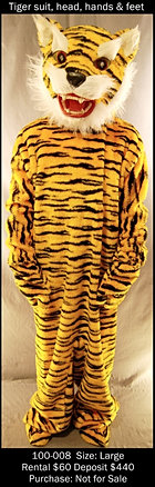 Yellow Tiger Mascot