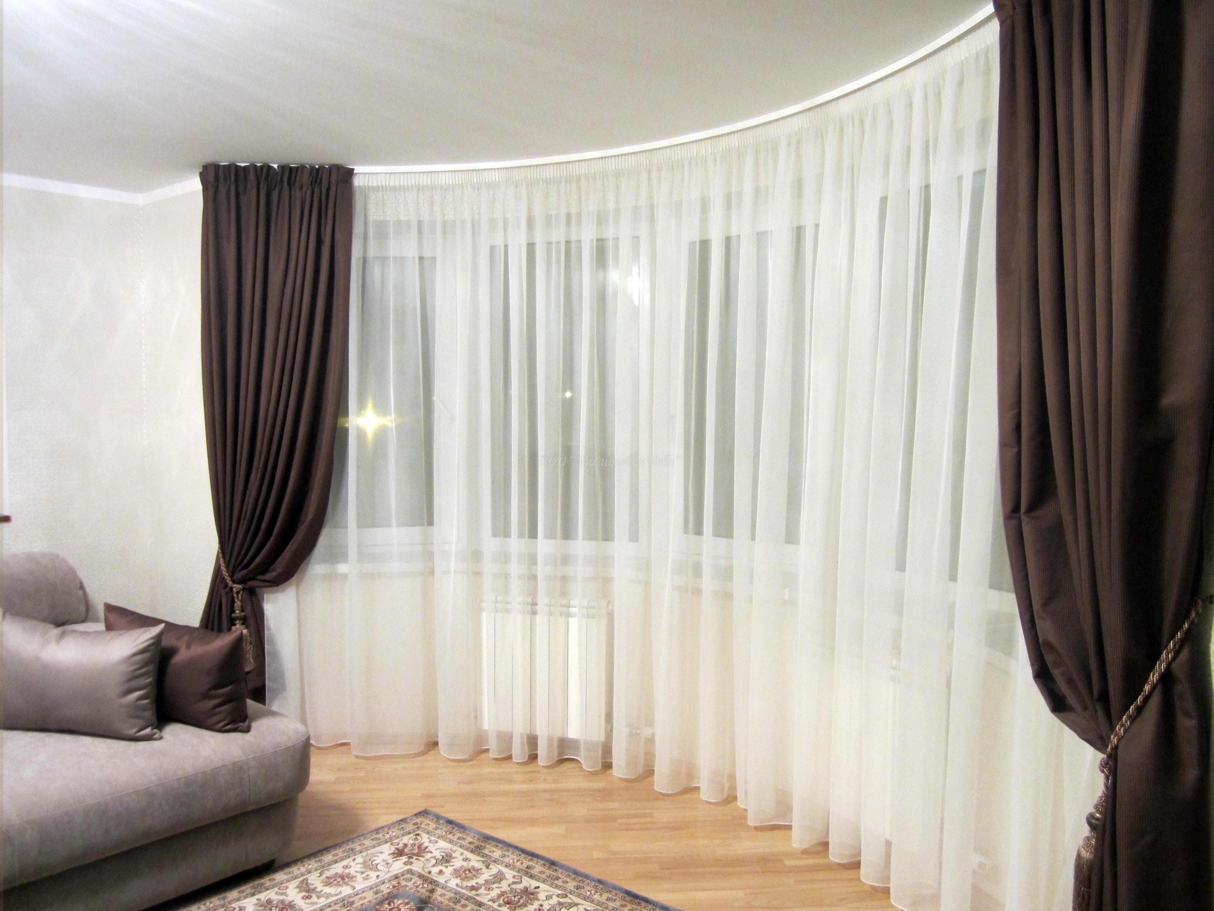 Современный дизайн штор и тюля