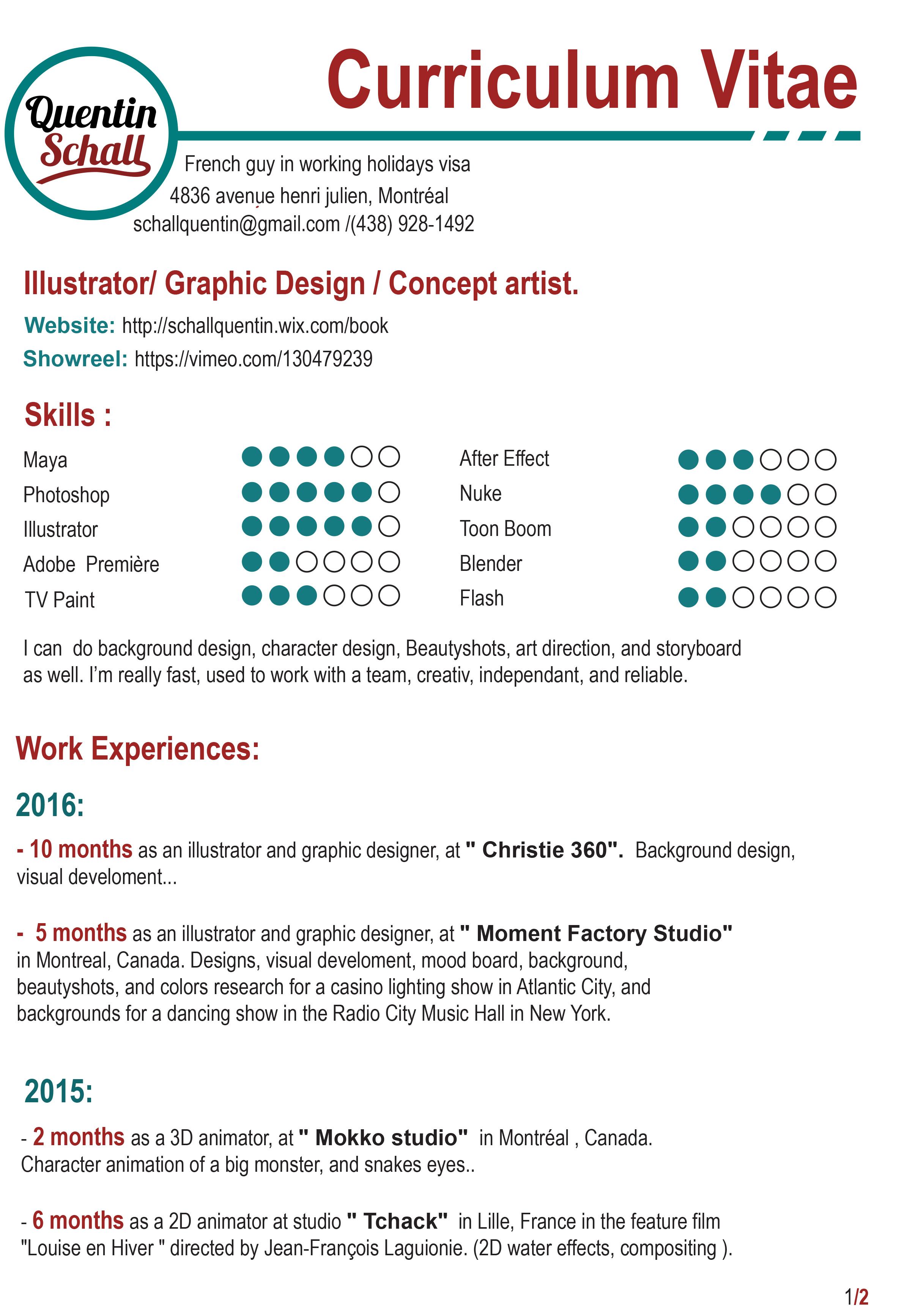 Amazing 3d Animator Resume Pdf Contemporary Example Resume Ideas