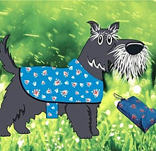 The Waterproof MacPAWS rain coat which will keep your dog dry from rain and snow.