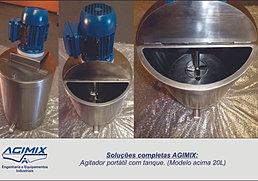 Agitador Portátil + tque. 20L