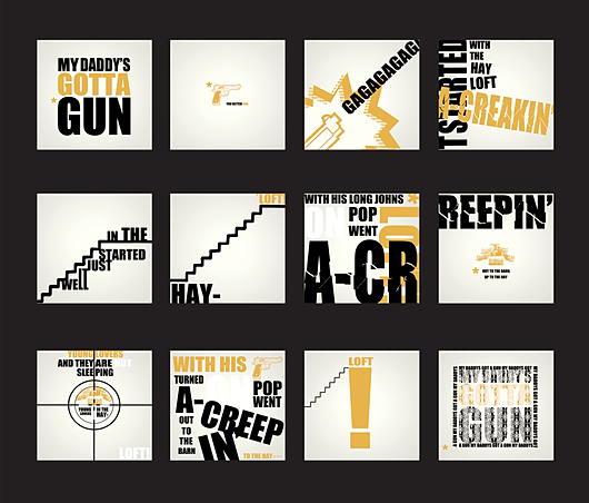 storyboard for typographic animation