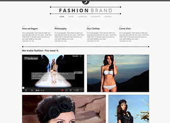 Clothing Brand Template - Create a hip website for your fashion brand using this free template. Catering to designers and retailers, the photo gallery lets you build a customized lookbook. Chose a color scheme and design that matches your style.