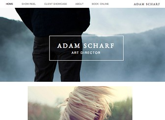 Art Director Portfolio Template - Put your work on display with this minimalistic template. Upload photos, videos, and blog posts, add pages for your bio and contact, and show the world your talents! Nothing can hold your creativity back - get started today! Tags: Art, minimalist, photography, creative