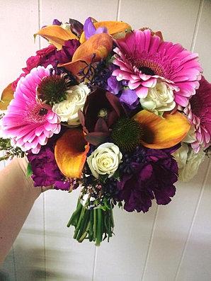 Caribbean Sunset Bouquet - Orange Rose Arrangements - Calyx Flowers