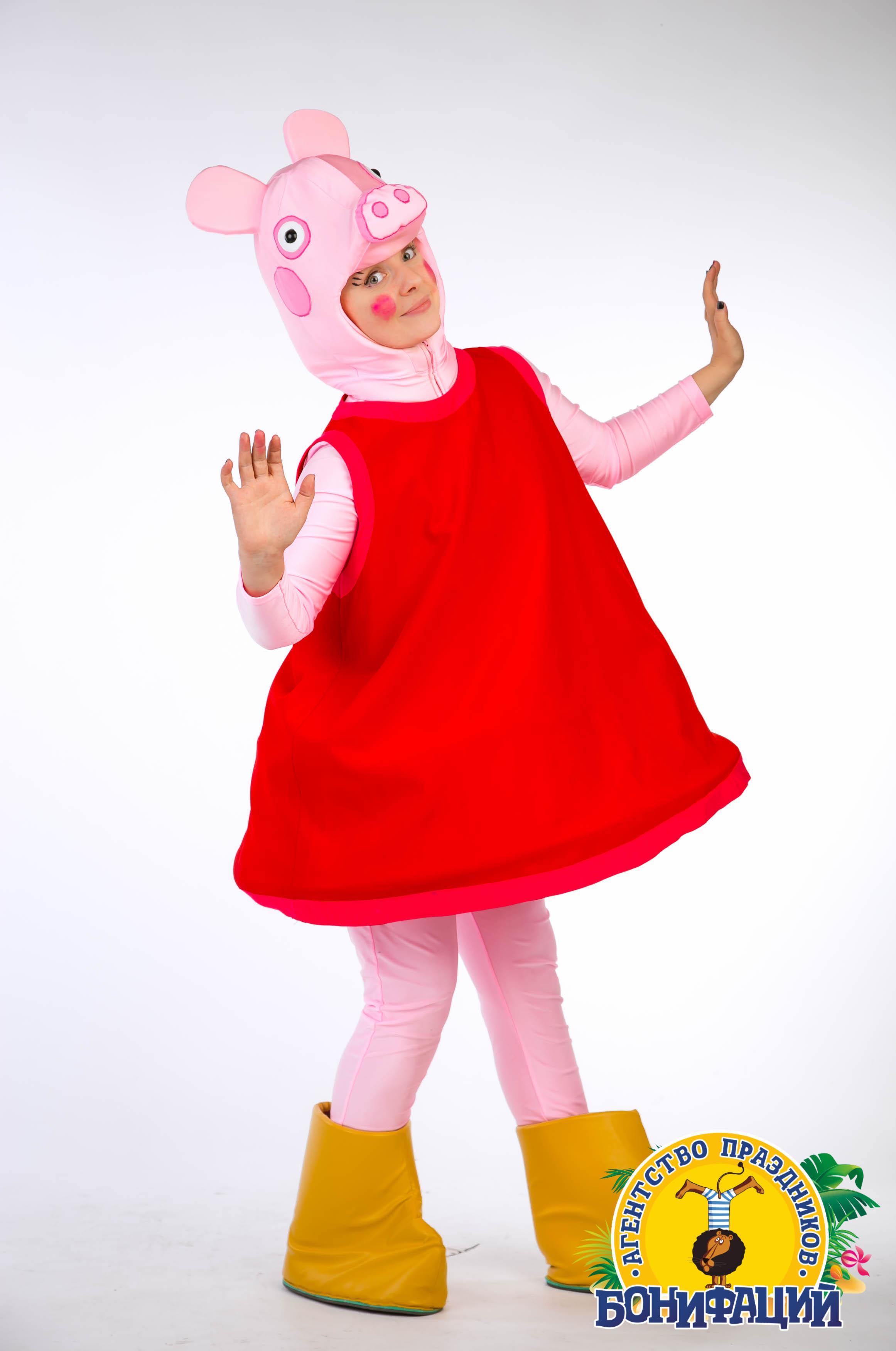 Костюм свинки пеппы своими руками