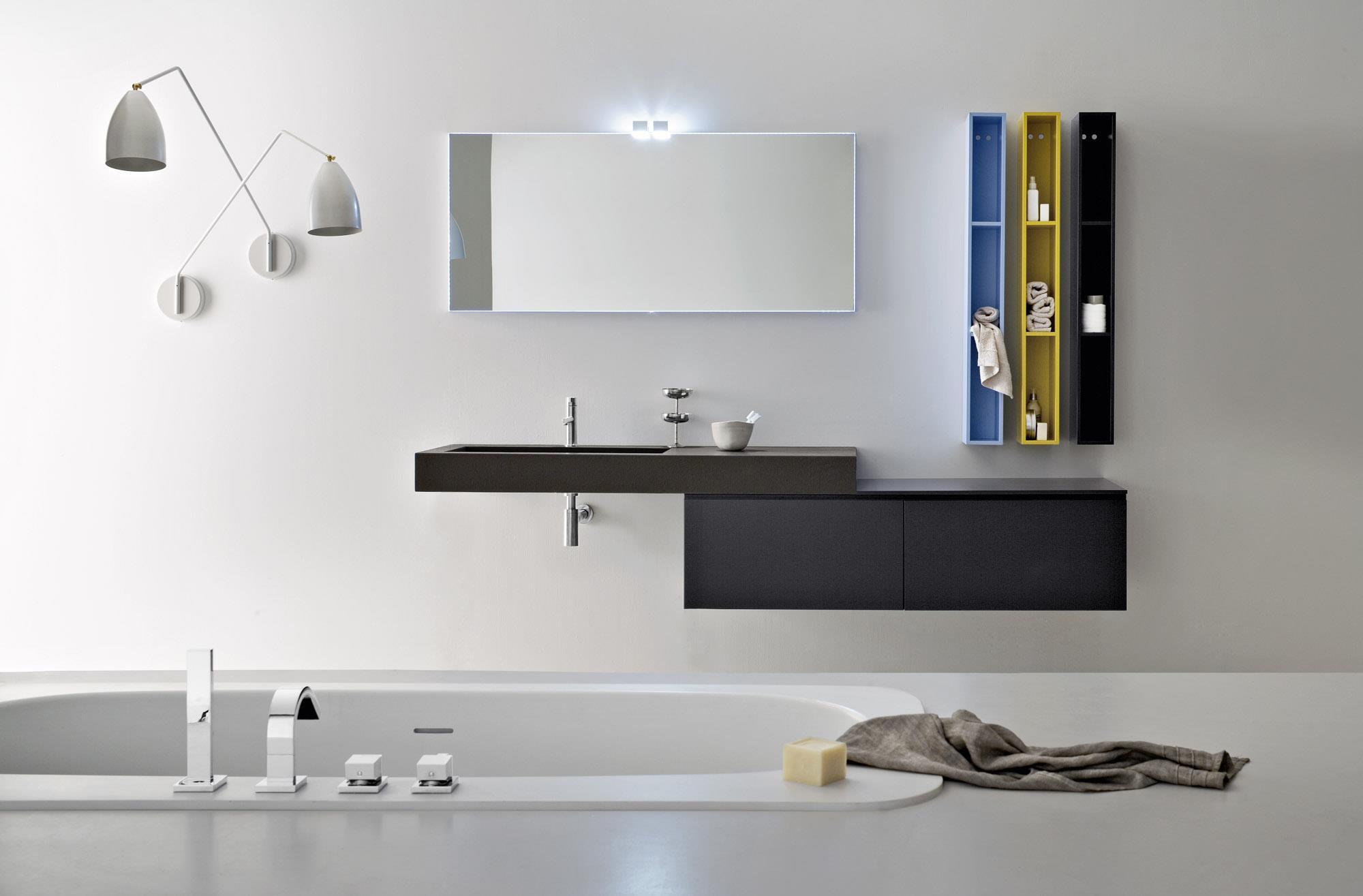 Rivestimenti bagno stile vietri: tonalite interni ideal.