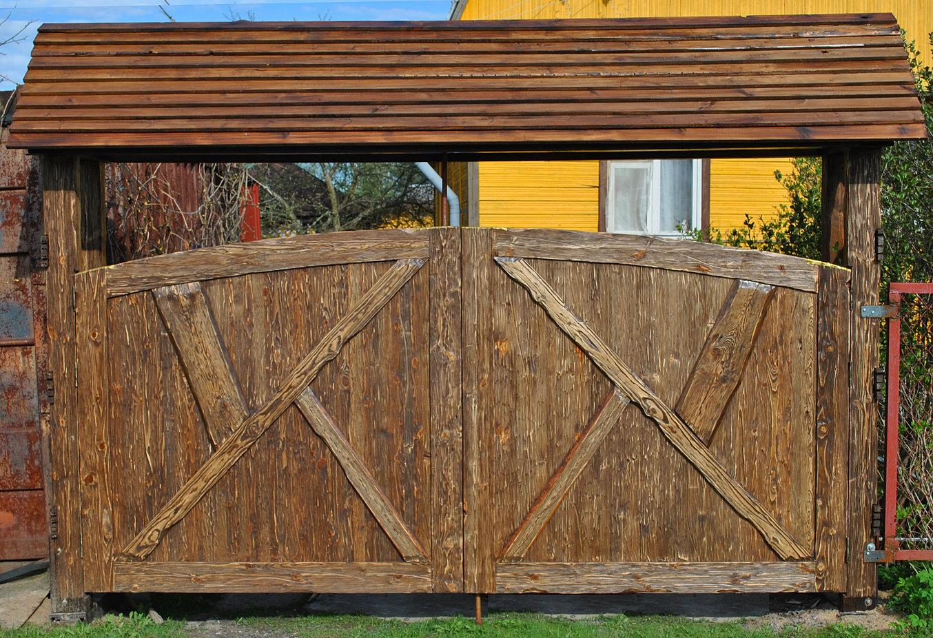 Забор из горбыля своими руками фото - Мой Забор