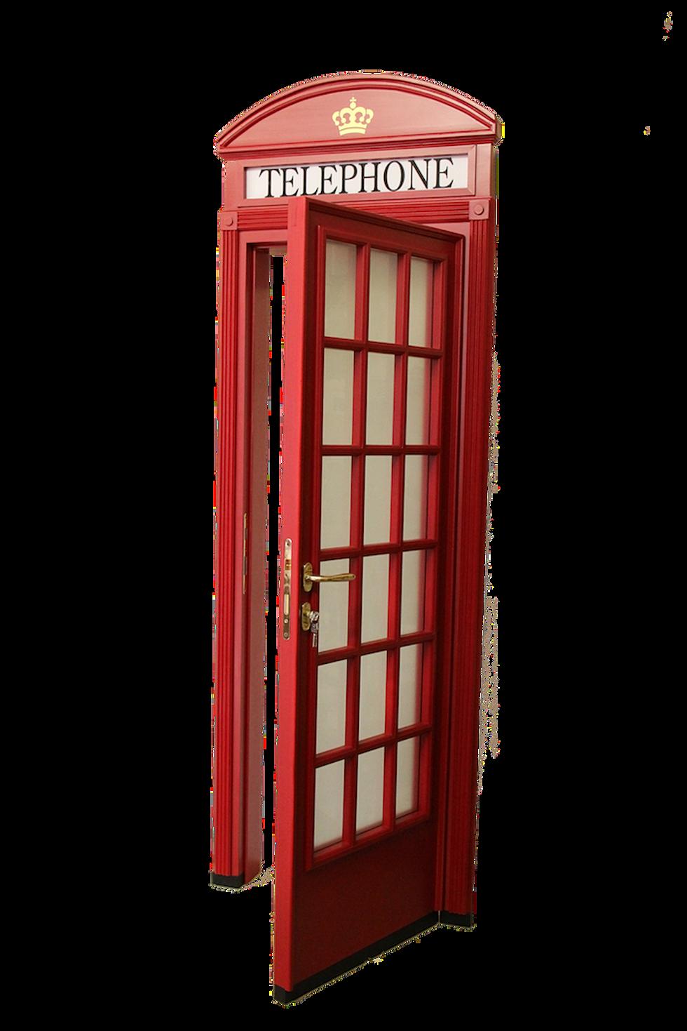 Cabina telefonica inglese in legno su misura for Cabina telefonica inglese arredamento