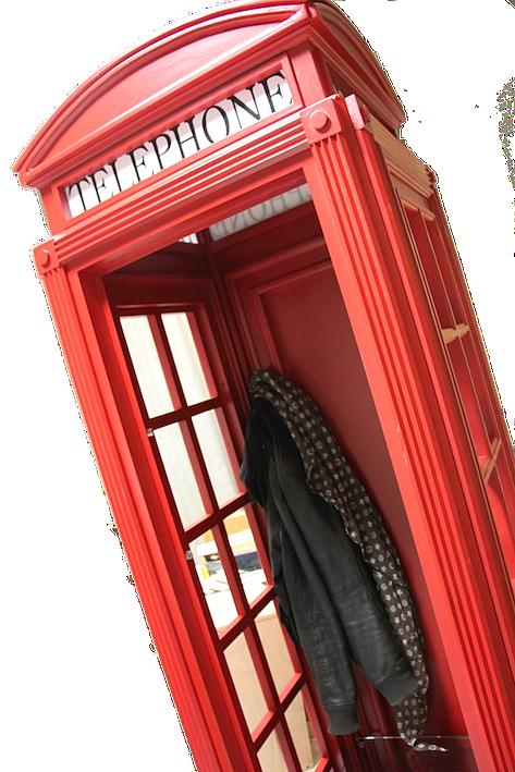 inglese riproduzioni mobile cabina telefonica inglese in legno