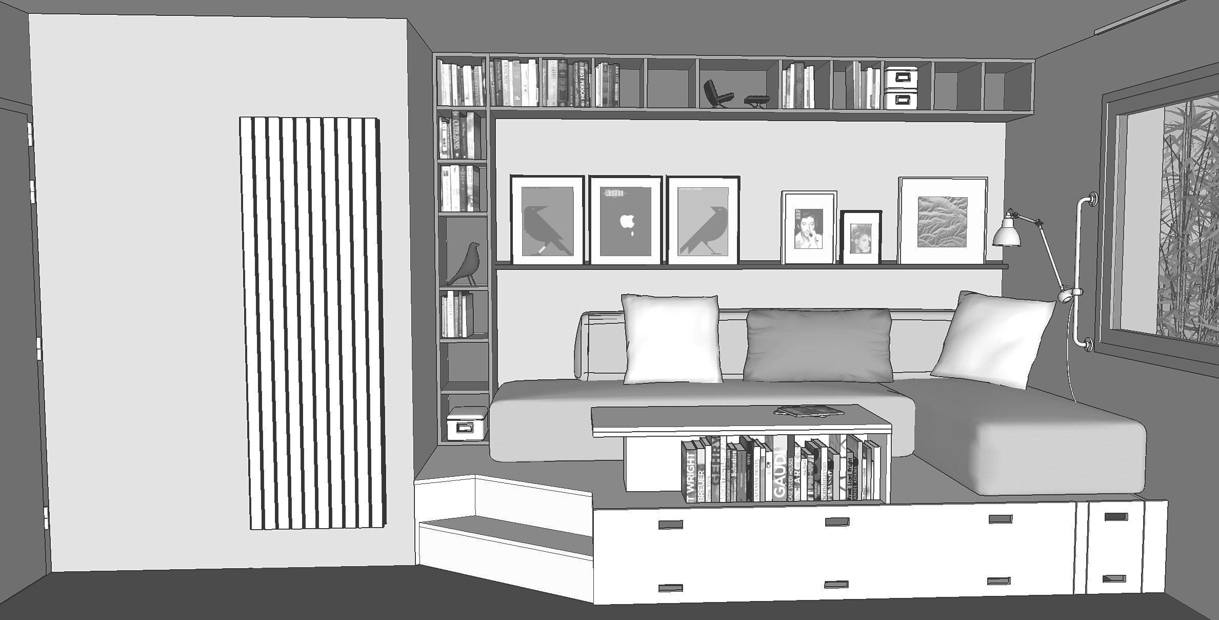 meridien zero architecte d 39 int rieur rennes studio stud vue3. Black Bedroom Furniture Sets. Home Design Ideas