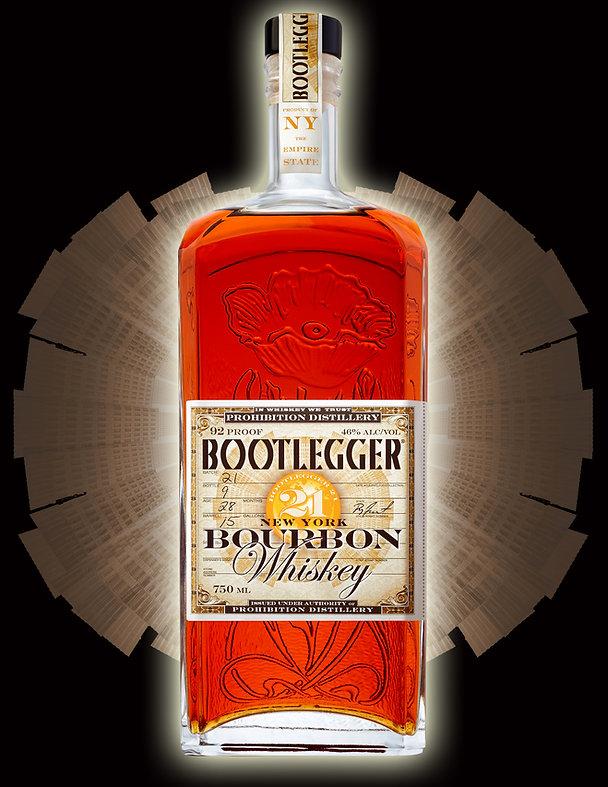 Whiskey Bottle & Shuttlecock Logo