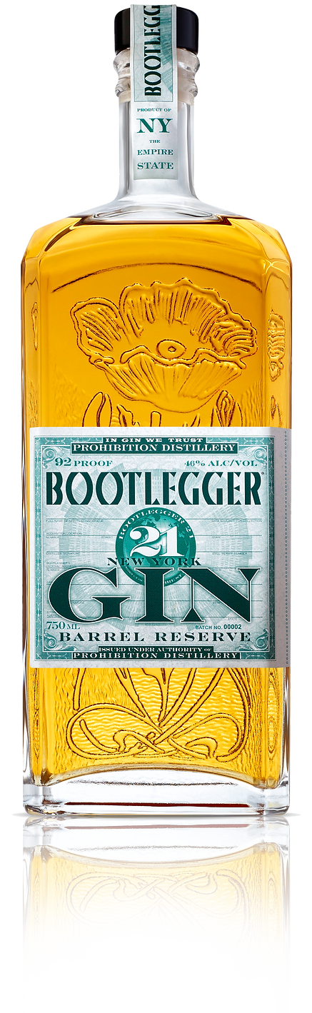 Gin Barrel Reserve 750 Bottle with refle