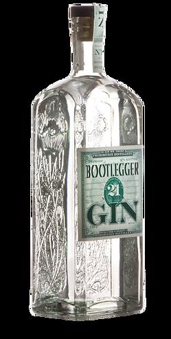 Bootlegger 21 NY Gin 750 ML side view