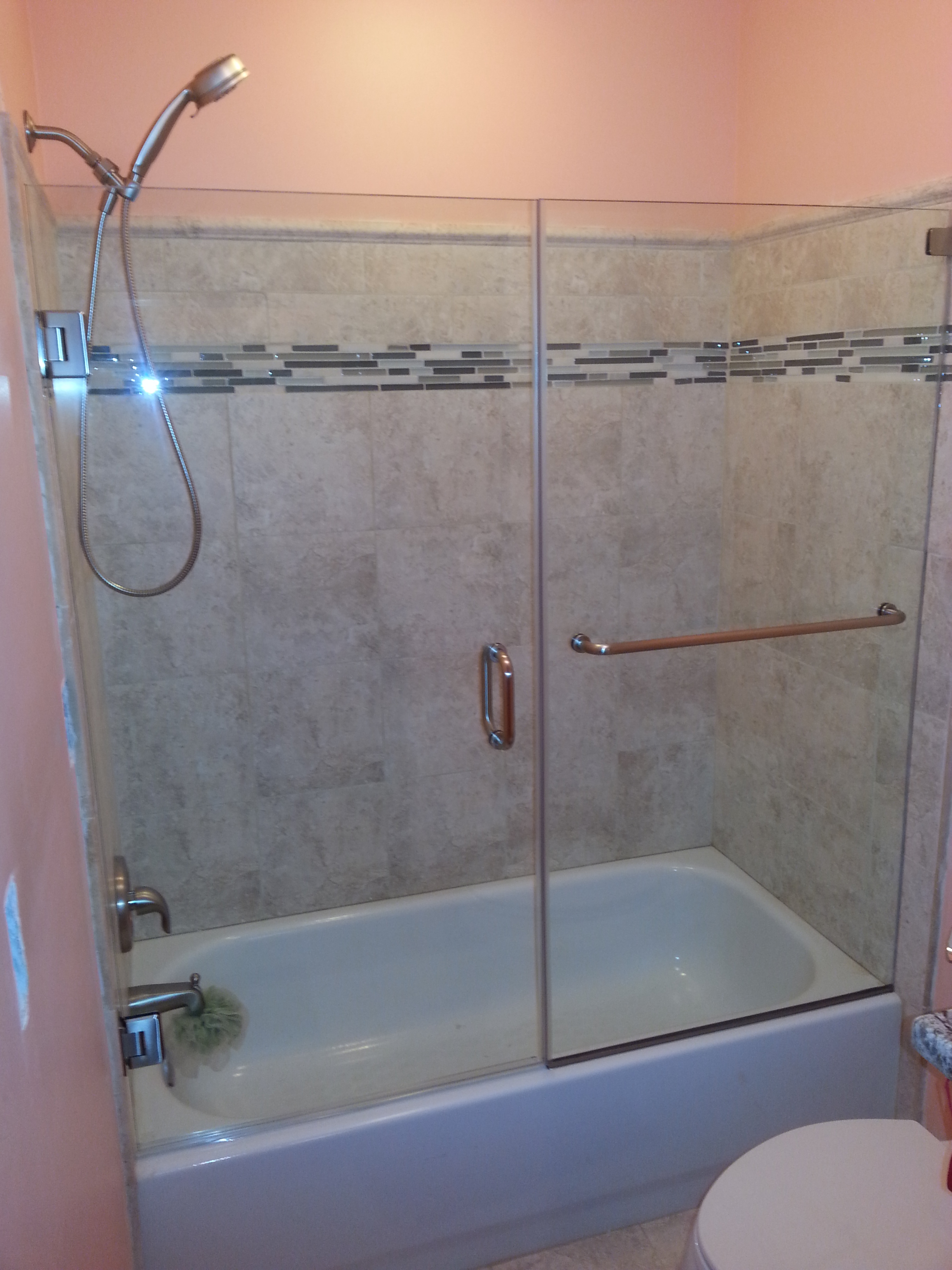 Top Pro Glass Mirrors And Shower Doors Tub Glass