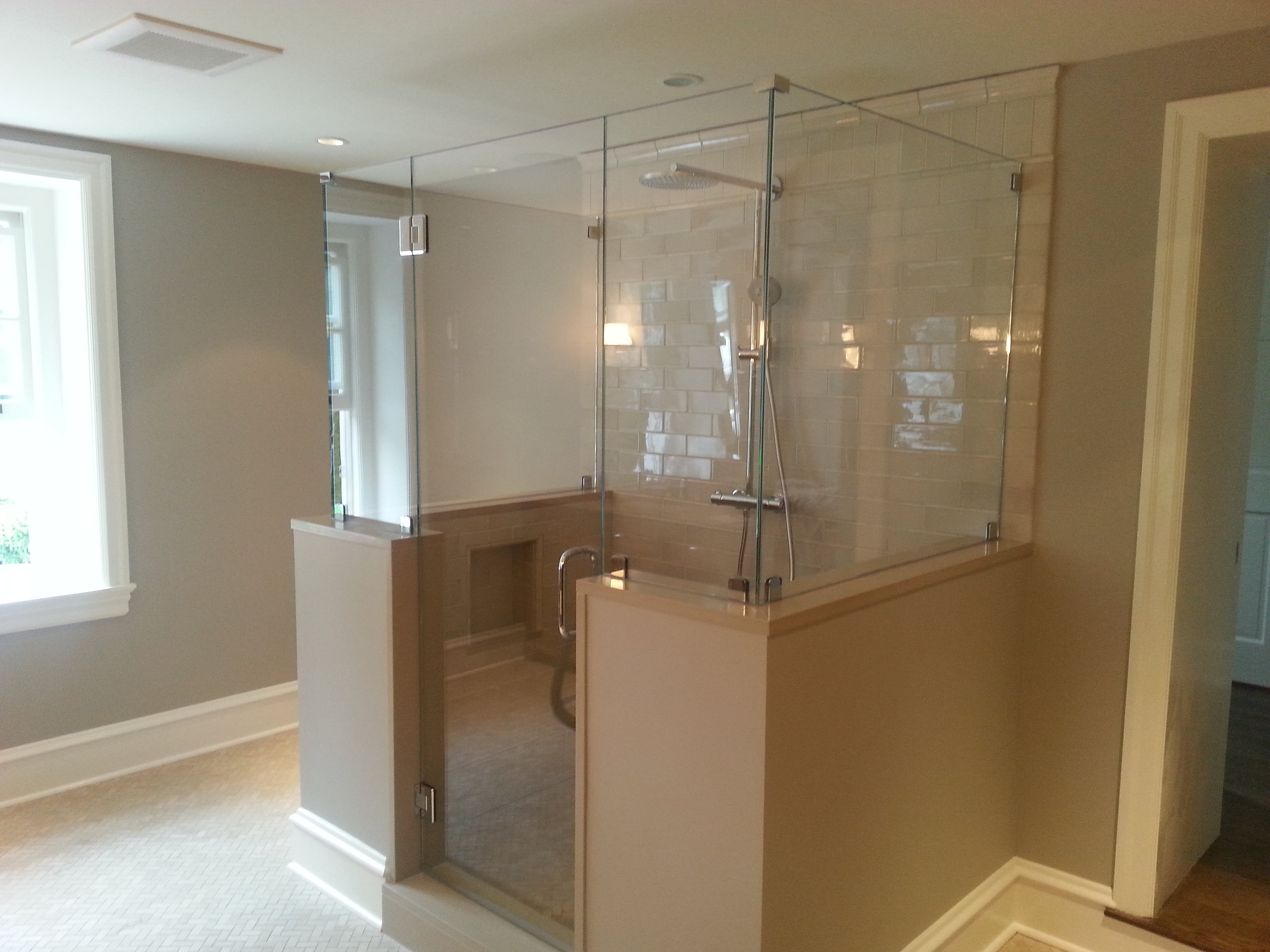 Top Pro Glass Mirrors And Shower Doors Custom Frameless Glass ShowEnclosure