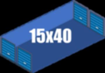 15x40 Giant Storage Unites
