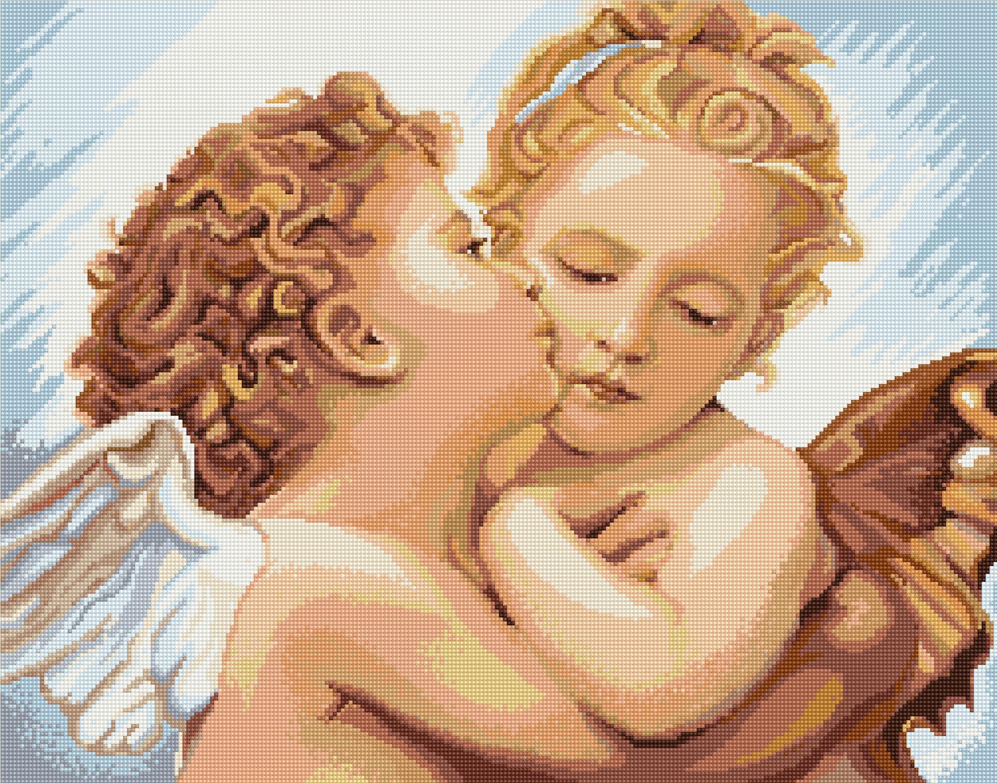 Вышивка с алиэкспресс девочка с мальчиком
