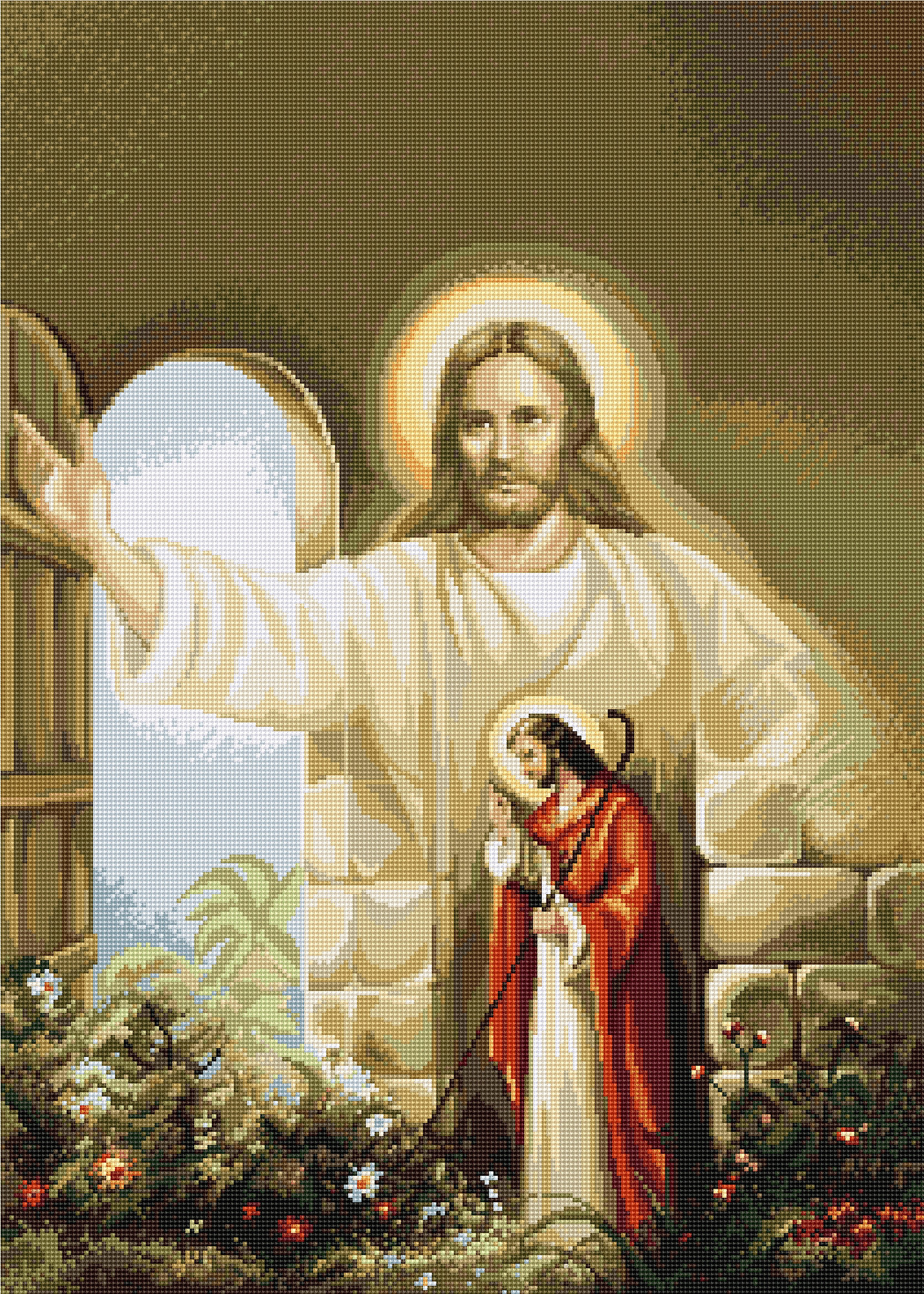 Вышивка икон бисером распятие христа