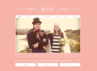 Wedding Website Template - Prepare for the big day with this chic and charming template. Customize the text and upload photos to share the story of your love. This is the perfect place for guests to RSVP, view the schedule of events, and browse your gift registry.