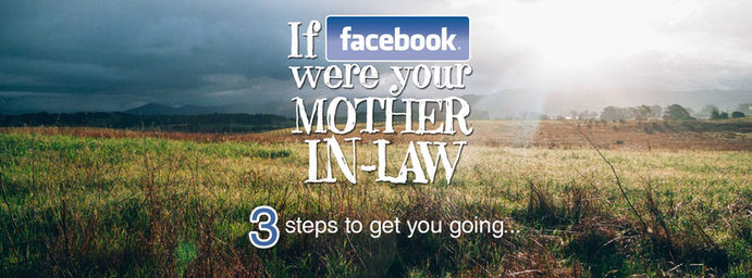 Mother-in-law problems; control issues, facebook spamming - what should I do?