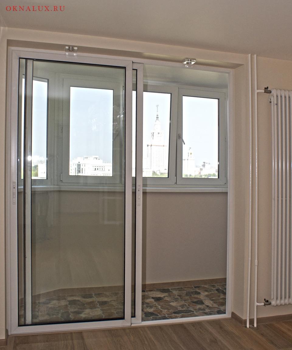 Ремонт раздвижных стеклопакетов на балконе.