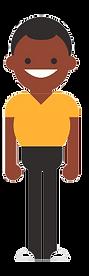man in yellow tshirt